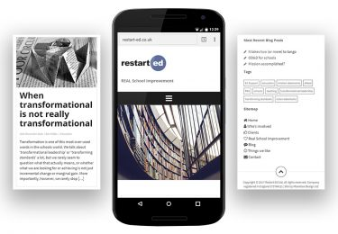 Restart-Ed Website Mobile Screens