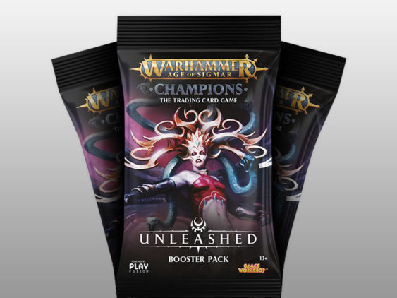 WH Champions Unleashed Booster Pack Packaging Design