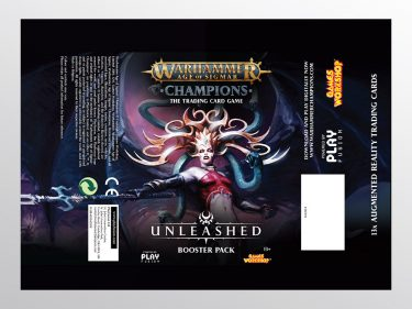 WH Champions Unleashed Booster Pack Packaging Flat