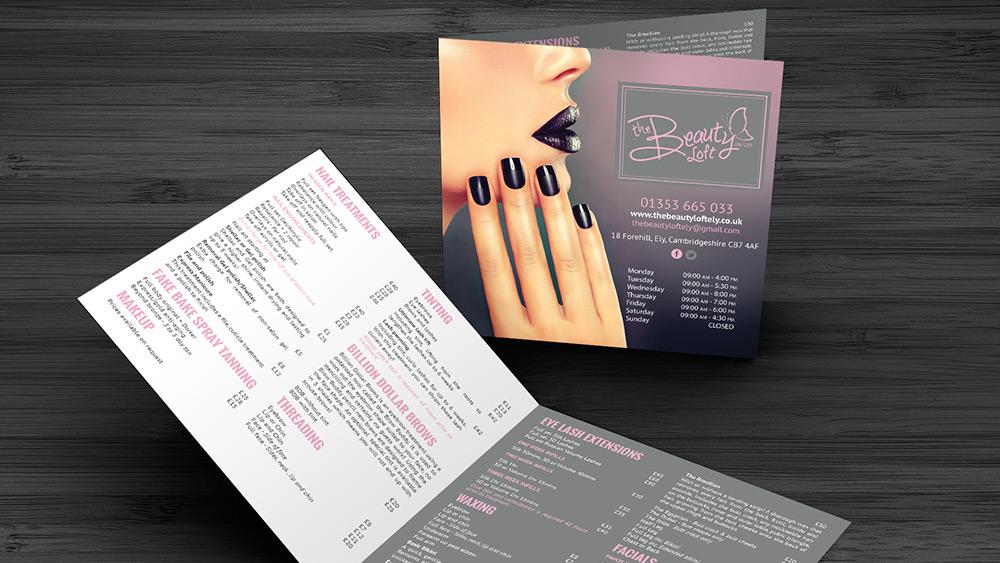 Beauty Loft Price List Design
