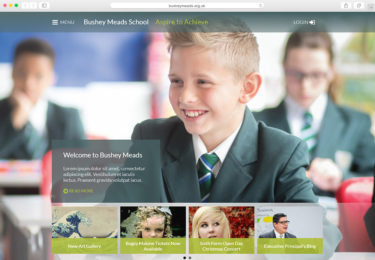 Bushey Meads Website Homepage