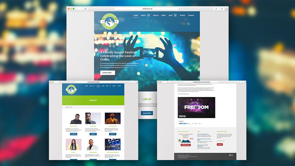 Mountain Kingdom Festival Website Design