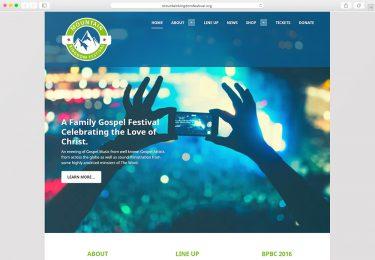 Mountain Kingdom Fest. Website Homepage