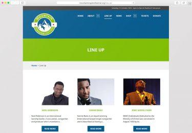 Mountain Kingdom Fest. Website Line Up