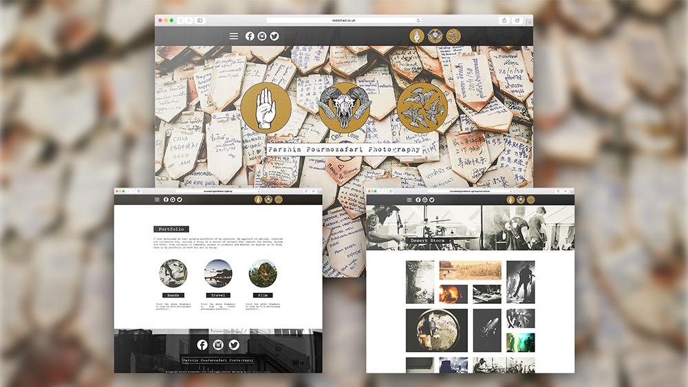 Parshin Pourmozafari Photography Website Design