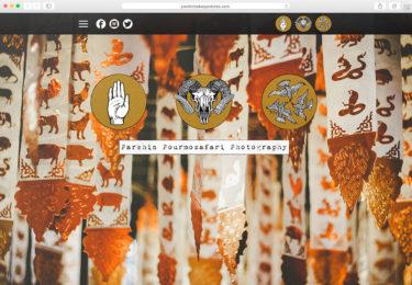 Parshin Pourmozafari Photography Website Homepage