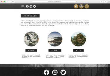 Parshin Pourmozafari Photography Website Portfolio