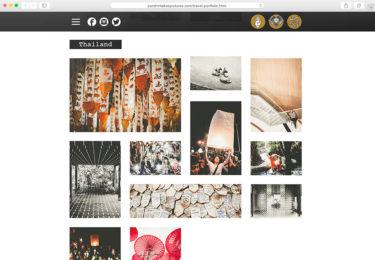 Parshin Pourmozafari Photography Website Travel Page