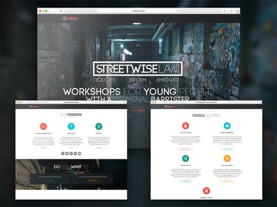 Streetwise Law Website Design